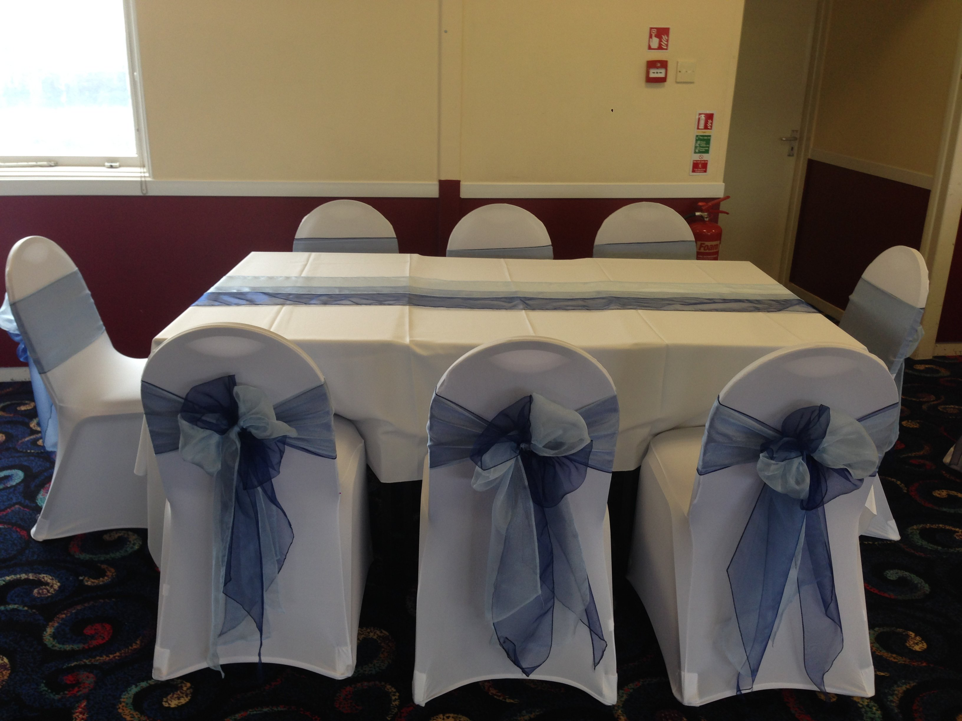 Navy And Baby Blue Double Organza Sashes At Fords Social Club