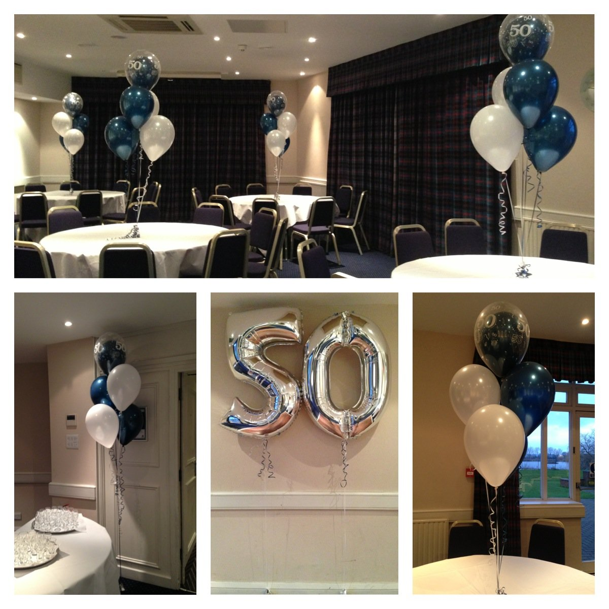 50th Birthday balloons at Holiday Inn Basildon
