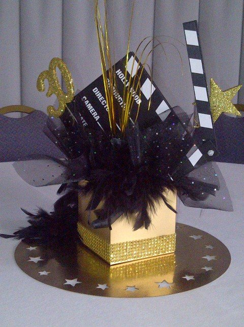Hollywood theme open box centrepiece