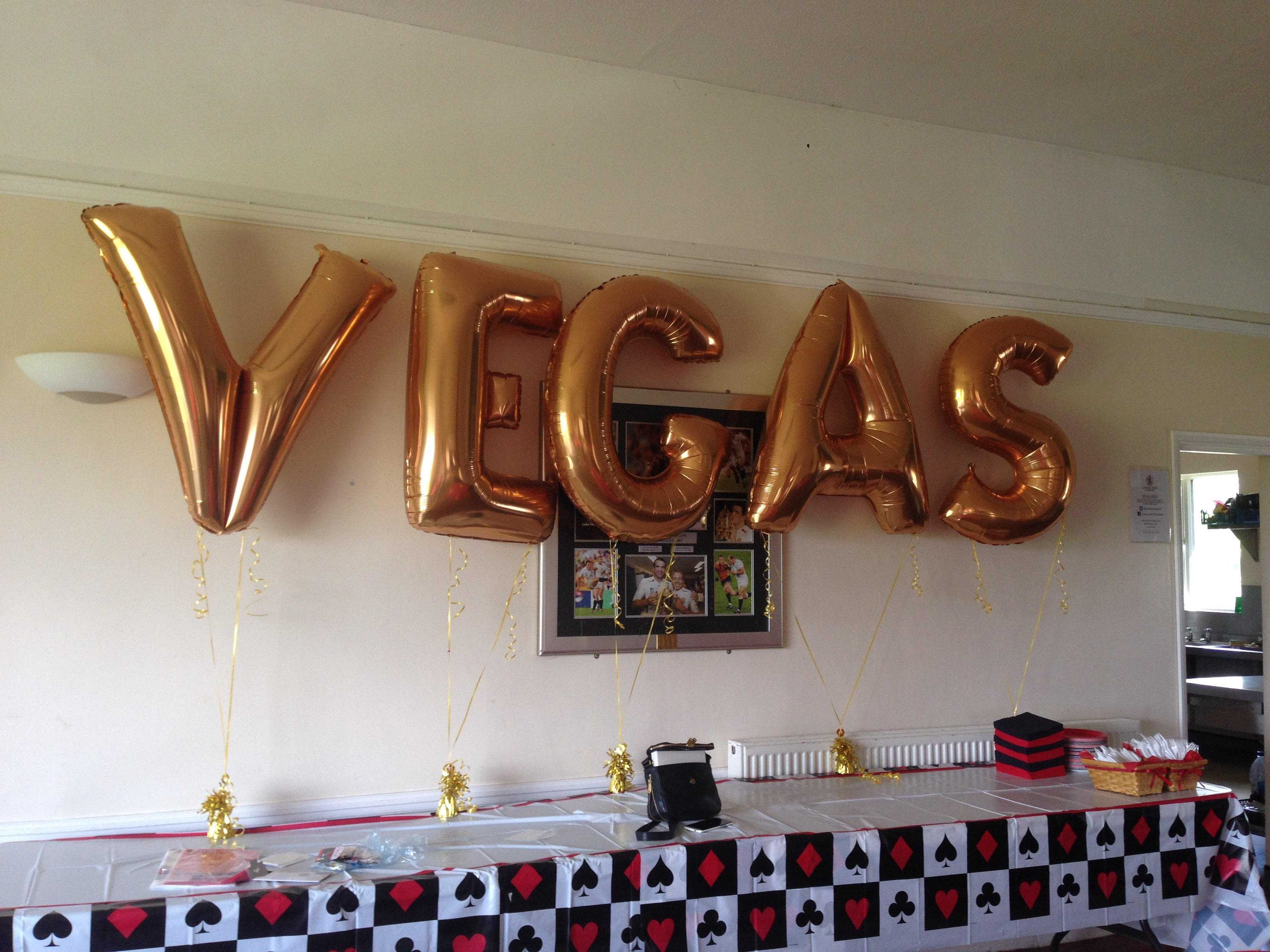Vegas Themed Wedding Party