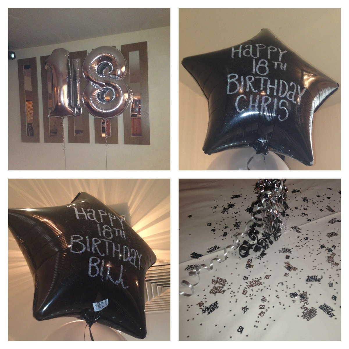 18th Birthday balloons at Reids