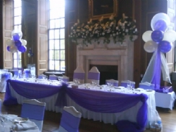 Material Top Table Swagging at Gosfield Hall